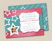 Girl of This Year Custom Birthday Party Photo Invitation Design -optional backside design