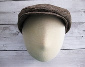 Brown toddler boy hat vintage inspired baby hat boys driver newsboy cap brown boys hat tweed hat - Downtown Brown