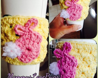 Little Bunny Easter Crochet Cup Cozy