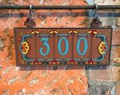 Custom Turquoise on Terra Cotta Talavera Ceramic House Number Set