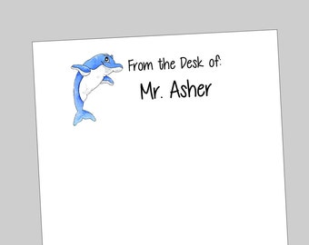Personalized Dolphin Notepads - Fun Gift ~ 3 sizes