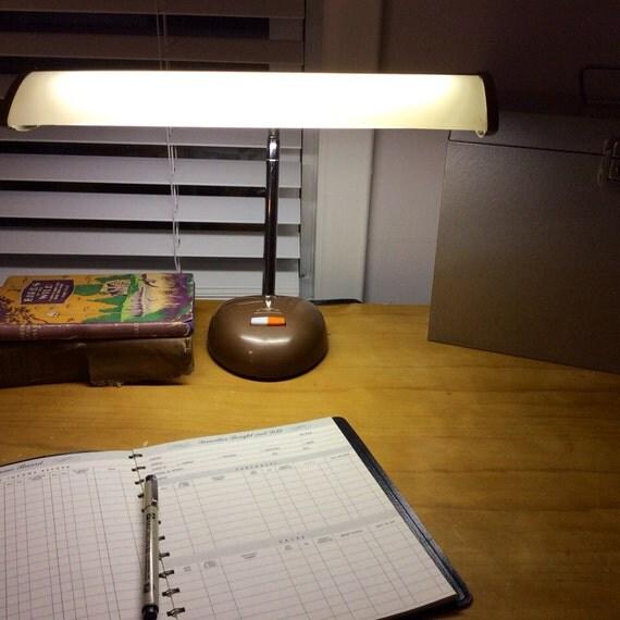 Vintage Industrial Fluorescent Light: Vintage MOBILITE Fluorescent Desk Lamp Extra Bulbs For