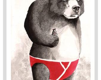 Big Bear Complex A3 Print