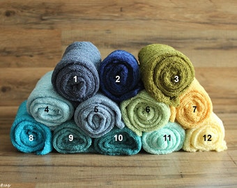 Many Colors Newborn Wrap, Baby Stretch Wraps, Green Wrap, Blue Wrap, Yellow Wrap, Newborn Props, Knit Wraps, Photo Props, Baby Stretch Wraps