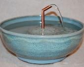 "Cat Fountain -  Pet Fountain -  Indoor Fountain - 10.5 Inch Diameter -""Jamaica Bay"""