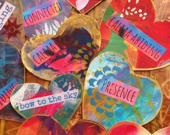 Hand painted original valentines with custom sentiments
