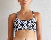 Athletic Bra Top -  Yoga Top - Sports Bra - Soft Cup Bra Top - Organic Underwear