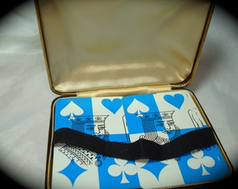 1970s Dual Decks Of PLaying Cards in Case.