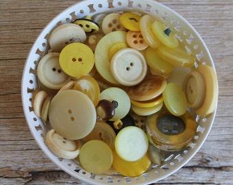 Vintage Button Collection- Yellows