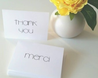 3.5 x 5 Folded International Thank You Card Pack of 10