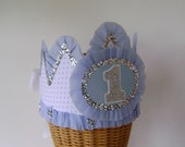 1st Birthday Hat, Birthday Crown Boy Birthday -  customize with any number or banner