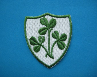 Clearance~ 5 pcs Iron-On embroidered Patch Clover 2.5 inch