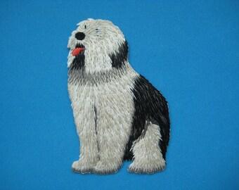 Sale~ Iron-on embroidered Patch Dog Komondor 3.5 inch