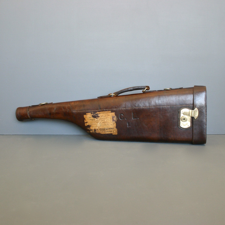 Antique Shotgun Case Leg of Mutton gun case Circa 1920's