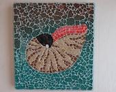 Mosaic Nautilus Shell, Home Decor, Beach Decor, wall hanging