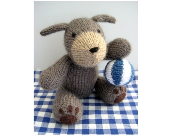 Knitting Patterns For Dogs Toys : Mortimer Puppy toy knitting patterns