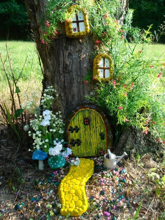 Items Similar To Fairy Door Kit, Outside Decor, Gifts For