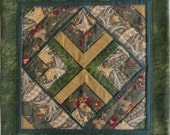 Handcrafted matching set of quilted accent pillow covers
