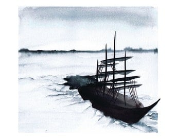 "Ice Ship, fine art print 8""x10"""
