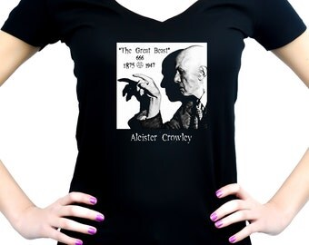 Aleister Crowley Women's V-Neck Shirt / Top The Great Beast 666