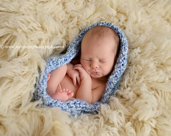 Blue Skies Baby Bowl Newborn Photography Egg