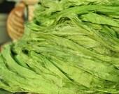 1, 2 or 3 Yards  Dyed Silky Soft Chiffon Sari Silk Ribbon Yarn Skin Soft