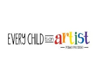 Vinyl Wall Decal Every child is an artist