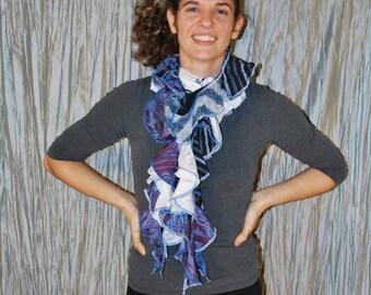 Twisty curvy upcycled scarf