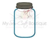 Mason Jar Embroidery Applique Design -  Southern Monogramming Design - 12 Sizes - Instant Download