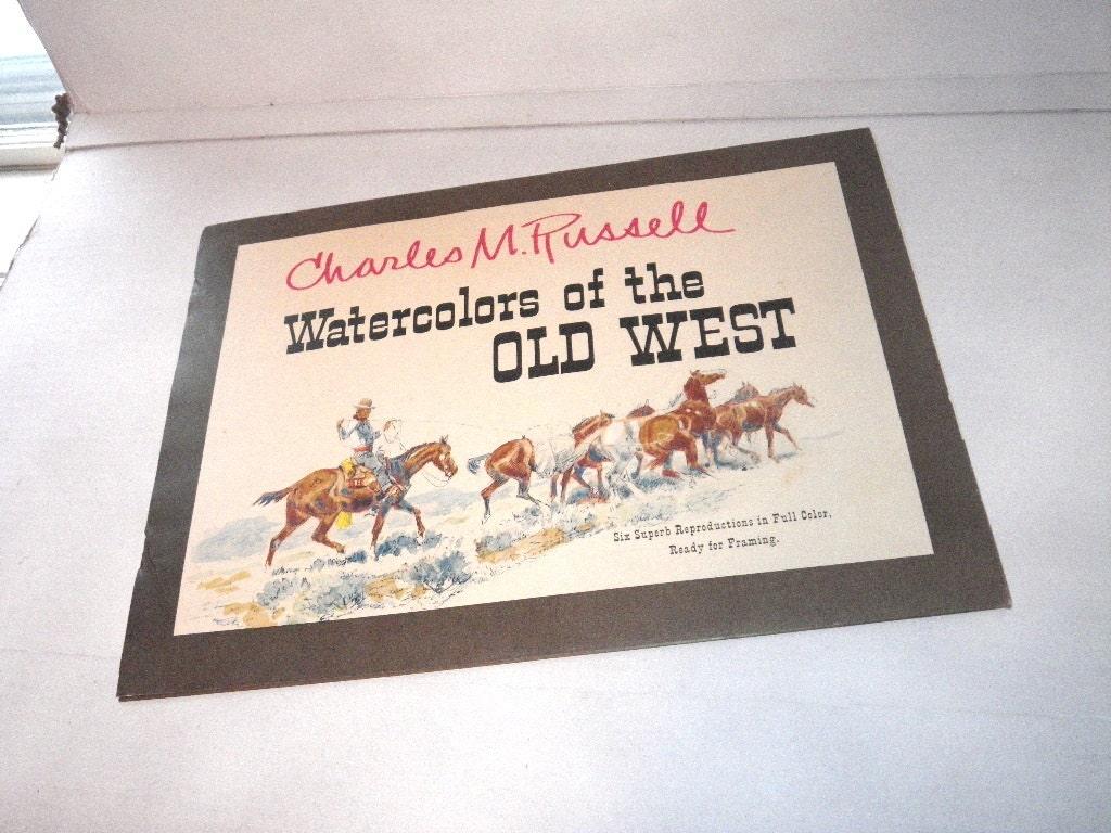 1958 Six Charles M Russell Native American Prints 16 X