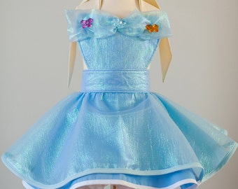 Ella from Cinderella inspired Dress Up Costume Apron, Full Apron Style, Butterfuly Gown....Made to Order