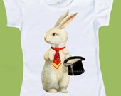 Magic Hat Bunny Rabbit Baby Toddler Girls Boys T-Shirt Birthday  One Piece Baby,Tank or tshirt by ChiTownBoutique.etsy