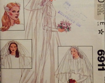 Vintage Sewing Pattern Wedding Headpieces and Veils 1970s Bridal Fashion 1971 Caps Headpieces