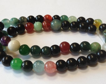 Multi Gemstones - 8mm - 15 inch strand