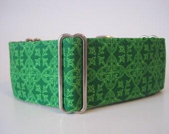 2 Inch Martingale Collar, St. Patricks Martingale Collar, Celtic Martingale Collar, St. Patricks Dog Collar, Celtic Dog Collar