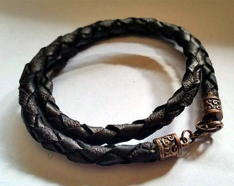 042015 Hand Braided Leather Bracelet