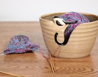 Little Bird Yarn Bowl, Chickadee Birdie Yarn Bowl, Yarn Bowl