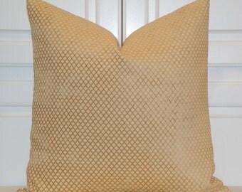 Decorative Pillow Cover - Diamond Chenille Accent - Lattice - Sofa Pillow - Geometric Pillow - Amber Pillow