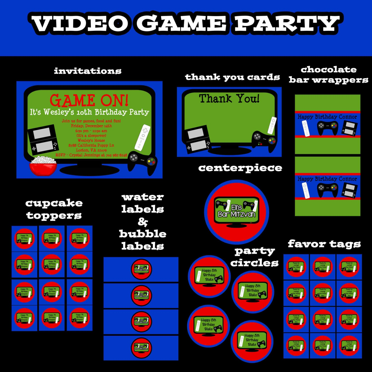 Current image pertaining to free printable video game party invitations