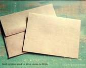 "25 A2 Folded Cards & Envelopes, Kraft or Light Brown Cards, Blank Note Cards and Envelopes, Recycled, 4 1/4"" x 5 1/2"" (108 x 140mm)"