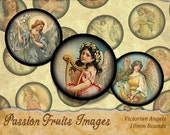 Victorian Angels 18mm round Digital Collage Sheet