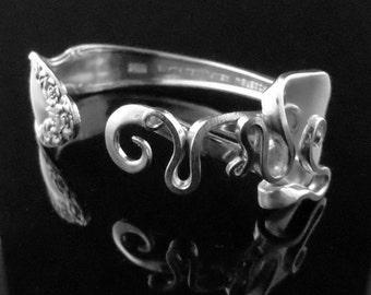 Fork Bracelet in Original Abstract Design Number Three
