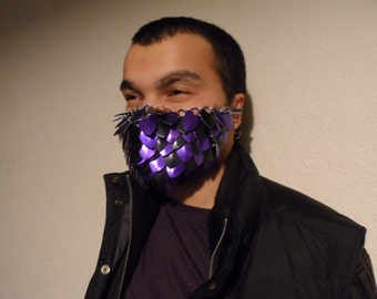 Scale Mail Armor Masks - Purple and Black