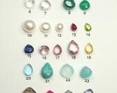 Genuine Birthstones, Add on Jewelry Charm, Add to Your Necklace or Bracelet, Gemstones, Personalize your Jewelry, April Birthstone Jewelry