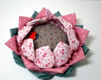 Lotus Pincushion, Pincushion, Flower Pincushion