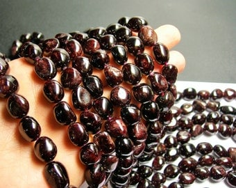 Garnet - rounded nugget beads - 12mm -  A quality - big size - PSC76