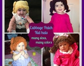Cabbage patch Kid Hat / wig --- many colors, many sizes, low shipping cost.
