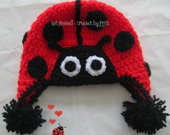 Lady Bug Hat / all sizes/ ships everywhere