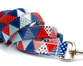 Red White and Blue Dog Leash
