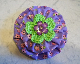 Fabric Flower Pin, Fabric Brooch, Fabric Flower Hair Clip, Fabric Flower Purse Decoration, Mothers Day Gift, Birthday Gift, Hair Fashion